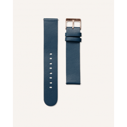 BLUE NAVY LEATHER 20MM